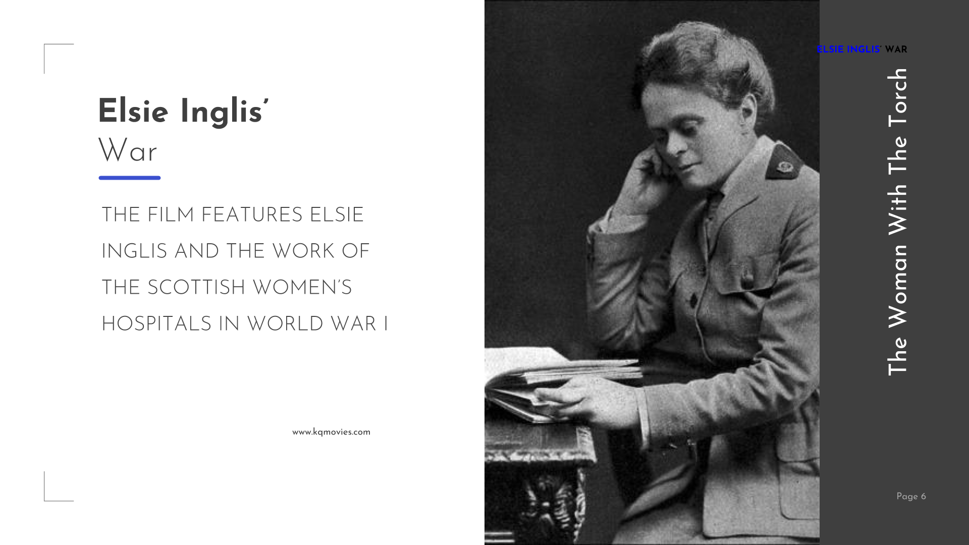 The Woman with the Torch - Elsie Inglis's war